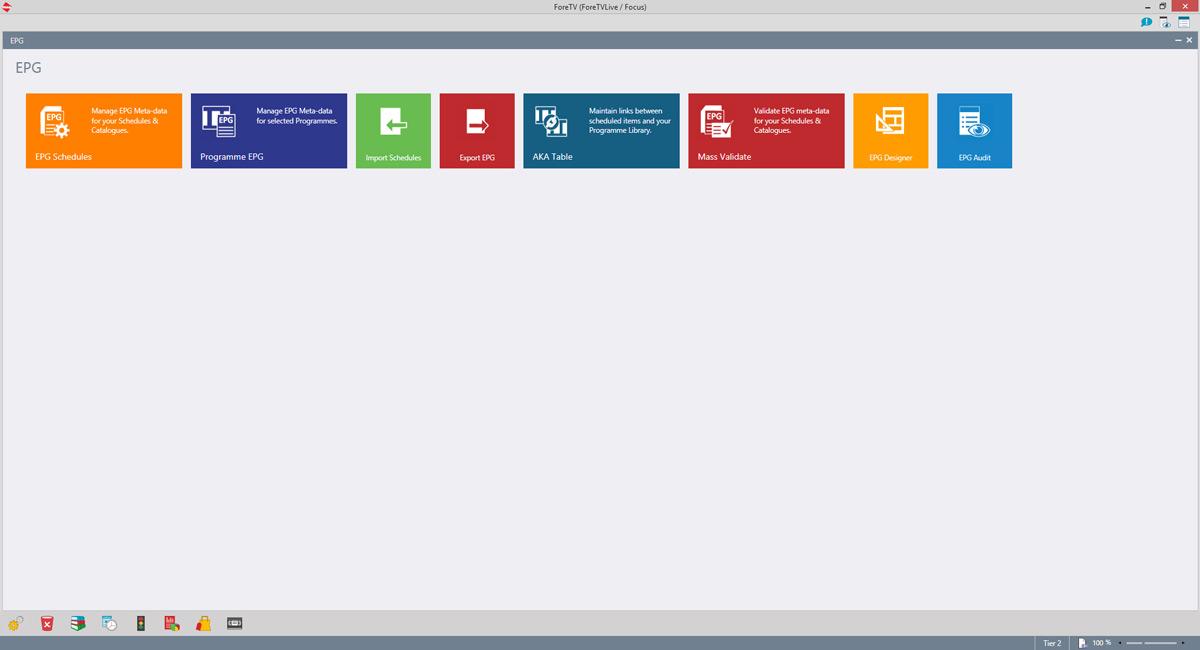 Enhanced EPG management module